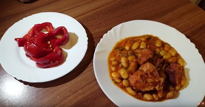 Fasole cu ciolan, mancare traditionala romaneasca - reteta video, rapida si delicioasa