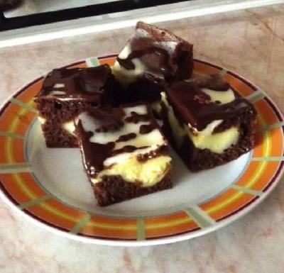 "Prajitura ""Puzzle"", o bunatate cu ciocolata si budinca"