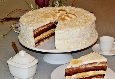 "Tort ""Vis cu banane"" - cea mai simpla reteta de tort cu banane!"