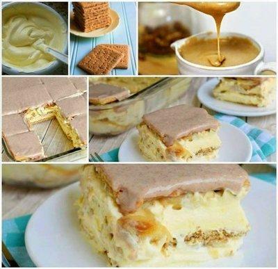 Tort-ecler cu banane si glazura in doar 15 minute! Este fara coacere