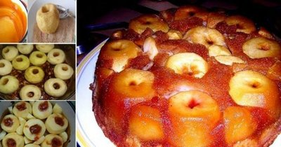 Tarta rasturnata cu mere - reteta ca in copilarie