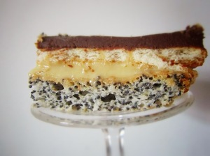 Prajitura Tosca - un deliciu cu crema de vanilie si blat crocant