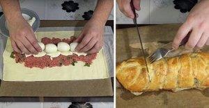 Rulada cu carne si oua fierte. Un preparat ideal pentru Paste