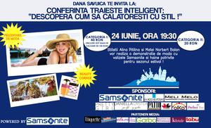 "Dana Savuica: ""Pe 24 iunie, la conferinta Traieste Inteligent, te invat cum sa calatoresti cu stil!"""
