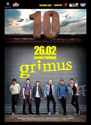 Te invitam la concert: Grimus sarbatoreste 10 ani la Arenele Romane!