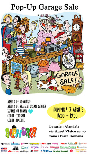 Recomandare Kfetele.ro: Pop-up Garage Sale @ Alandala