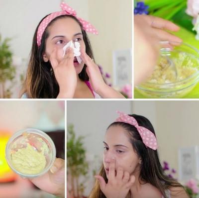 VIDEO A amestecat trei ingrediente simple din bucatarie, apoi le-a aplicat pe nas! Rezultatul este wow