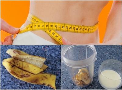 Scapa de kilogramele in plus doar cu coaja bananelor