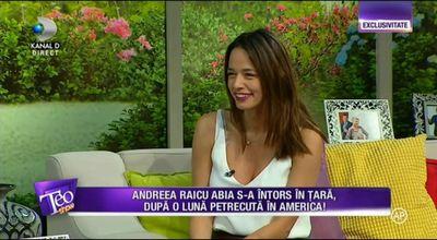 """Andreea Raicu: """"Mi-era frica sa nu gresesc, mi-era frica sa nu spuna oamenii ca nu fac ceva bine"""""""