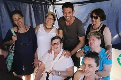 """Keremcem, simpaticul Ates din serialul """"Bahar: Viata furata"""", de la Kanal D, vizitat de mama sa la filmari"""
