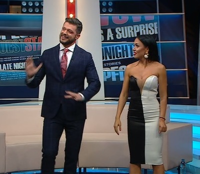 Moment amuzant cu Victor si Andreea, in direct! Replica prezentatorului TV a facut-o pe Mantea sa-si faca cruce
