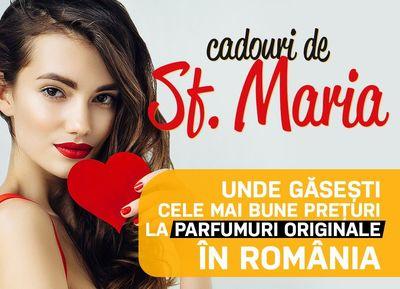 OFICIAL Cadouri de Sf Maria - unde gasesti cele mai bune preturi la parfumuri originale in Romania