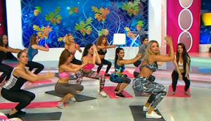"Bianca Dragusanu a transformat platoul ""Te vreau langa mine"" in sala de sport! S-a schimbat in bustiera si colanti si le-a pus la treaba pe fetele din emisiune! Barbatii au fost in extaz: ""Vrem sa vedem asta in fiecare zi"""