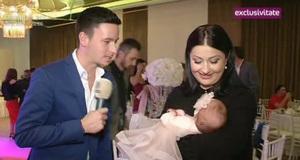 """Gabi Cristea, cu fetita la petrecerea de botez a fiicei lui Madalin Ionescu! """"Poarta rochita de designer"""""""
