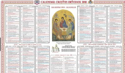 Calendar crestin ortodox 2018. In ce data vom sarbatori Pastele