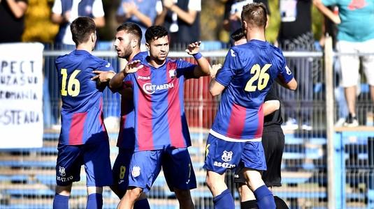 FOTO | CSA Steaua a învins-o clar pe Comprest şi rămâne în cursa cu Academia Rapid! Roş-albaştrii au făcut spectacol în Ghencea