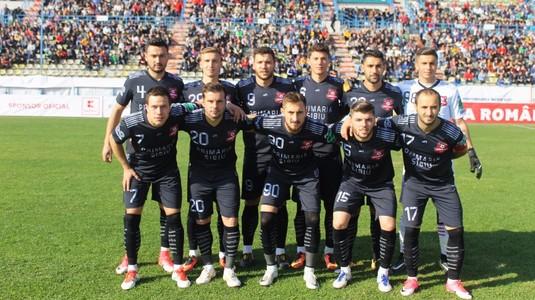 Remiză albă în derby-ul etapei a 15-a din Liga a II-a. AFC Hermannstadt a pierdut prima poziţie din clasament