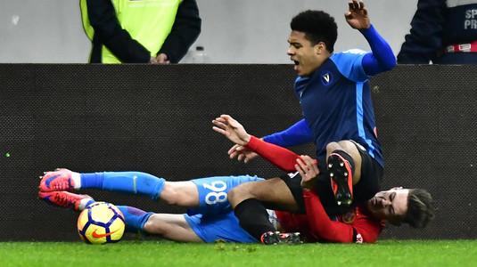 VIDEO | FCSB - Viitorul 2-0. Dică încheie anul la două puncte de CFR Cluj. Gnohere a fost eliminat în minutul 44