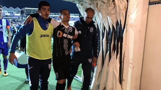 VIDEO EXCLUSIV   Scandal monstru în pauza meciului dintre Timişoara şi Craiova. Mitriţă, eliminat la vestiare