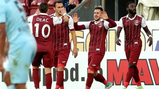 Victorie pentru CFR Cluj în meciul extremelor. Liderul se impune cu 2-0 în faţa ultimei clasate, Juventus