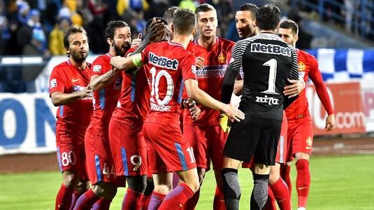 VIDEO | FCSB face spectacol şi se impune cu 5-2 în meciul cu CS U Craiova. Roş albaştrii sunt noii lideri din Liga I