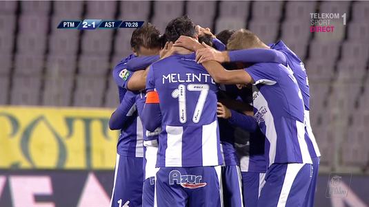VIDEO | ACS Poli Timişoara - Astra 2-1. Golul fabulos al lui Mailat decide un meci extrem de tensionat