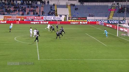 VIDEO   Gol controversat marcat de FC Botoşani! A fost sau nu offside la faza super-golului marcat de Miron?