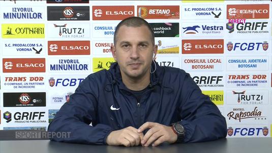 """FC Botoşani caută prima victorie din istorie cu FCSB. Enache: """"Eu cred în şansa noastră"""""""