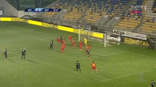 VIDEO | Astra a primit uşor un penalty, dar Ioniţă a ratat. Măzărache, fractură de tibie şi peroneu