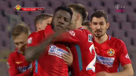 VIDEO | FCSB se califică în sferturile Cupei României după 3-0 cu Timişoara. Toate fazele meciului sunt AICI!