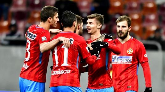 FCSB - Olimpik Doneţk 1-2, în primul amical al roş-albaştrilor din acest an. Alibec s-a bătut cu un adversar, accidentare gravă pentru Coman