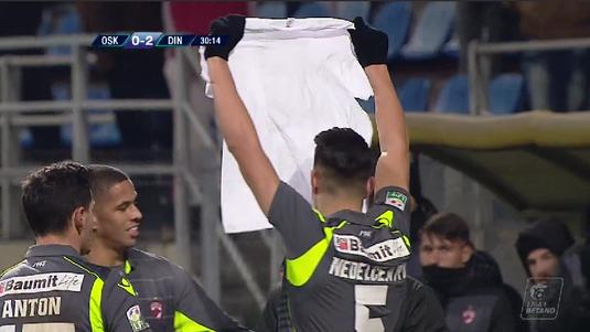 VIDEO | Reacţia controversată a lui Nedelcearu, după golul 2. Ce tricou le-a arătat fanilor maghiari ai lui Sepsi!