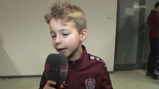 VIDEO | Cel mai pătimaş jucător! Un puşti de la Academia CFR-ului a făcut spectacol la microfonul Telekom Sport :)