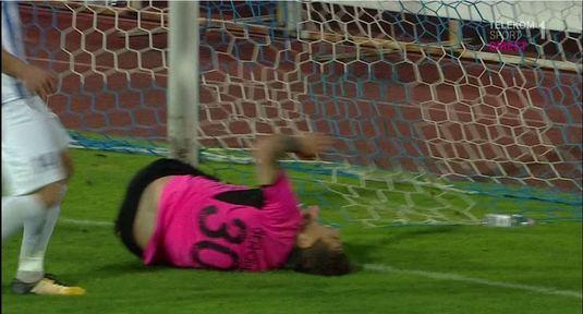 Moment şocant în Liga 1! VIDEO | Şeroni a dat lovitura în prelungiri, dar a suferit o accidentare cumplită