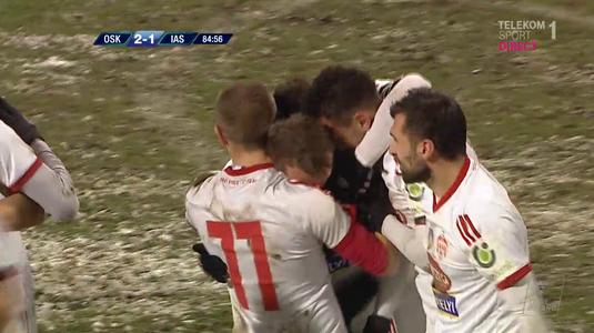 VIDEO | Sepsi a câştigat pentru prima dată după 13 meciuri fără victorie. Astafei a marcat un gol fabulos în ultimele minute ale meciului cu Iaşi