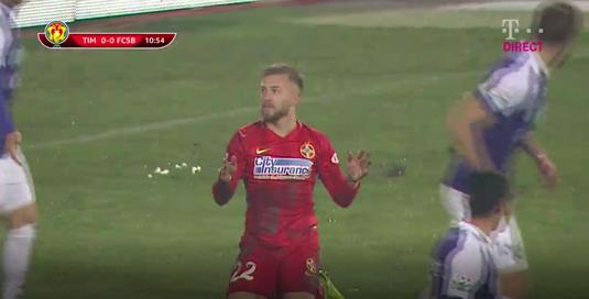 VIDEO | A fost sau n-a fost penalty? Ce a păţit Golofca în timpul meciului cu ACS Poli