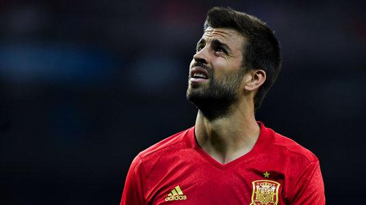 """Pique nu va părăsi naţionala Spaniei: """"Doar o accidentare îl poate scoate din echipă"""""""