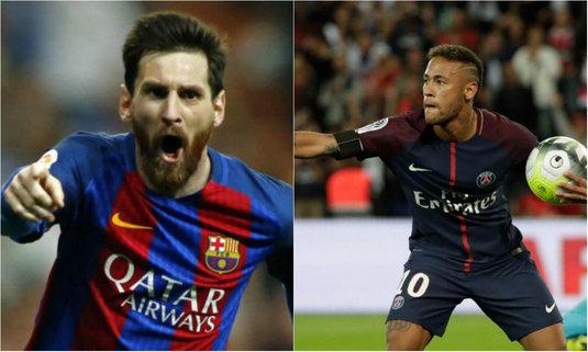 Messi vs. Neymar. Cine conduce în topul driblingurilor reuşite