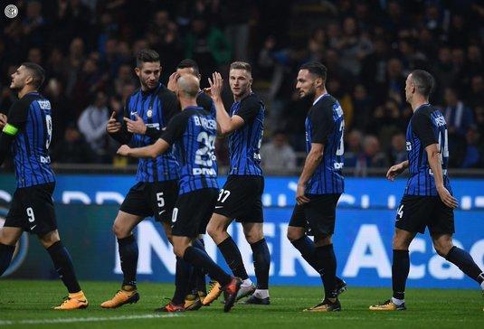 Internazionale Milano, pe primul loc în campionatul Italiei