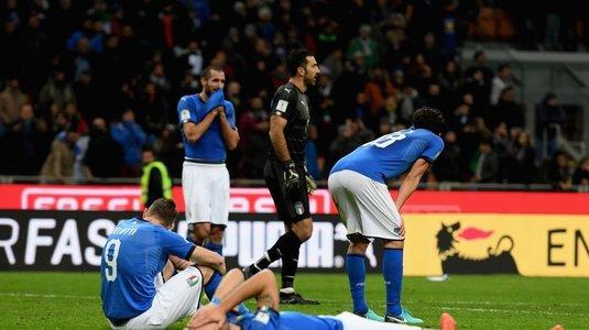 Patru jucători s-au retras din naţionala Italiei după ratarea calificării la Cupa Mondială. Au strâns împreună 461 de selecţii!
