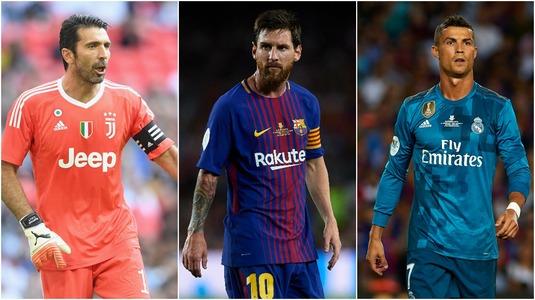 Lista completă a jucătorilor nominalizaţi de UEFA pentru echipa ideală a anului 2017