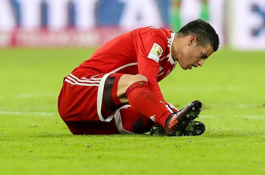 VIDEO | Verdictul medicilor în cazul lui James Rodriguez. Accidentare îngrozitoare pentru mijlocaşul lui Bayern Munchen