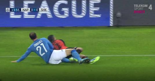 VIDEO   Momentul în care Contra a stat cu sufletul la gură. Ce a păţit Chiricheş în meciul cu Şahtior