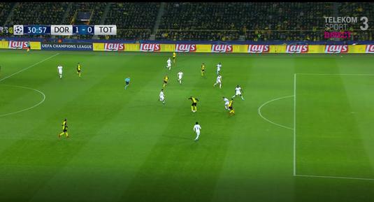 VIDEO   Fază extrem de spectaculosă la Dortmund - Tottenham. Cum a înscris Aubameyang