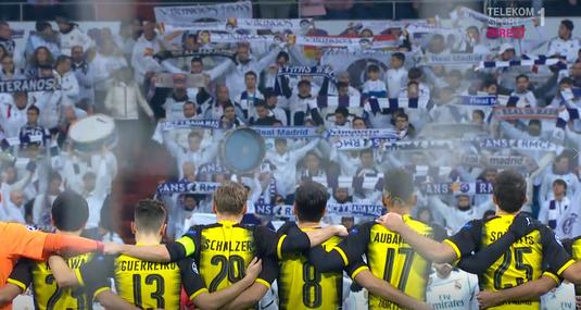 VIDEO | Ţi se face pielea de găină. Moment emoţionant înainte de Real Madrid - Borussia Dortmund