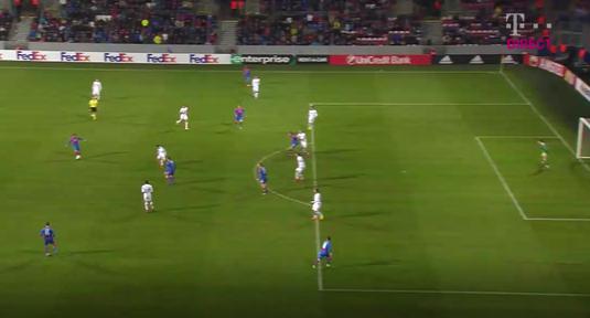 VIDEO   A fost off-side la golul înscris de Plzen? Vezi reluarea fazei