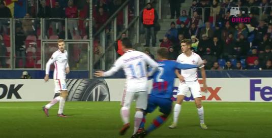 VIDEO   Gest necugetat făcut de Budescu. Atacantul FCSB-ului va fi suspendat pentru meciul cu Lugano
