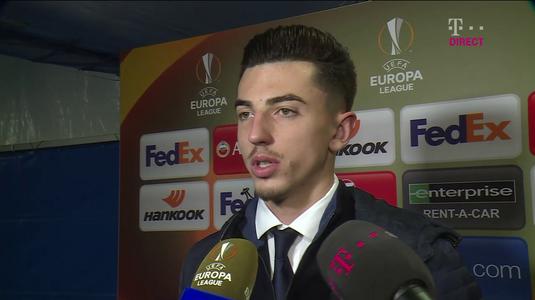 """Andrei Vlad, între lacrimi şi zâmbet: """"Sunt fericit că am debutat, dar imi pare rău că am luat două goluri"""""""