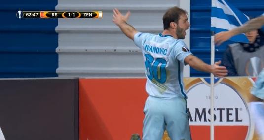 VIDEO | Nici lui nu i-a venit să creadă ce-a reuşit să facă! Ivanovici a marcat golul carierei în Europa League. N-a ştiut cum să se bucure