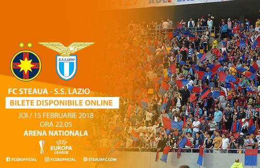 50.000 de fani vor să o vadă pe Lazio! FCSB a pus în vânzare biletele pentru partida de pe 15 februarie